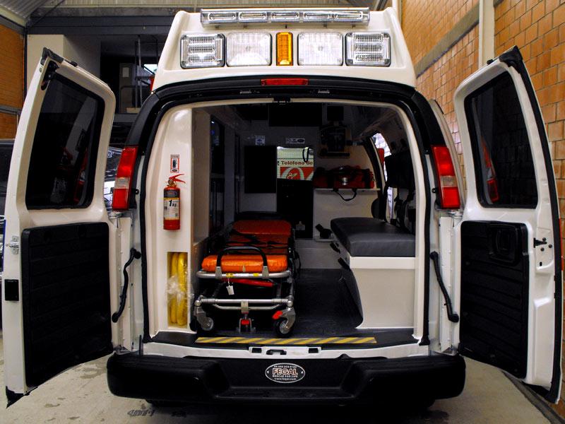 Interior de la Ambulancia Tipo II