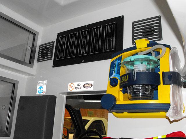 Equipamiento de la Ambulancia Tipo II