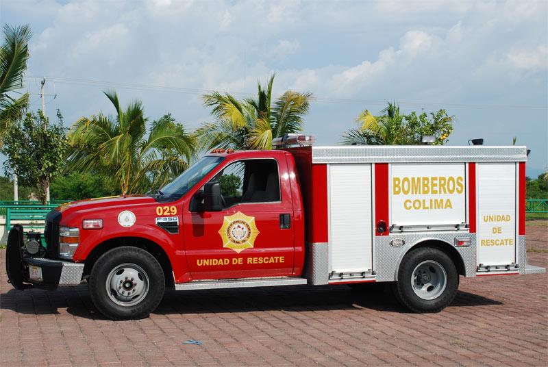 Vista lateral del Camión de Rescate
