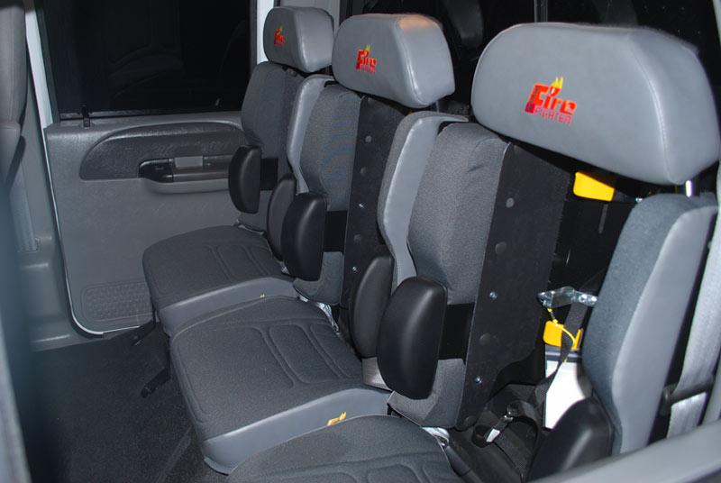 Asientos especiales del Camión Motobomba
