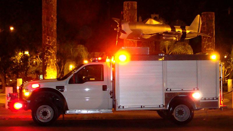 Operación nocturna de la Unidad de Rescate Pesado