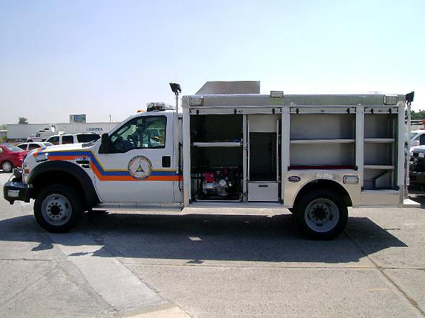 Compartimentos de la Unidad de Rescate Pesado