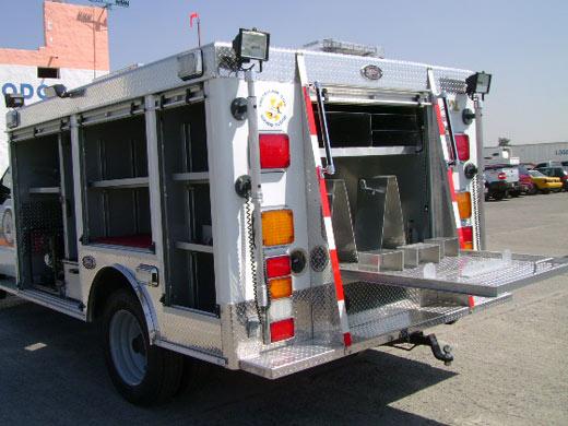 Gaveta trasera de la Unidad de Rescate Pesado
