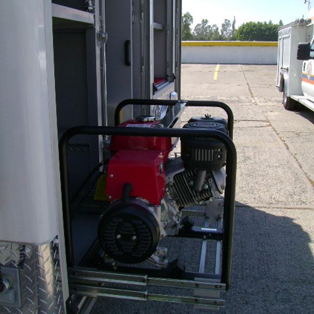 Compartimento para bomba hidráulica de la Unidad de Rescate